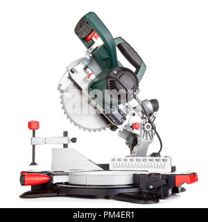Power chop saw on white background - Stock Photo