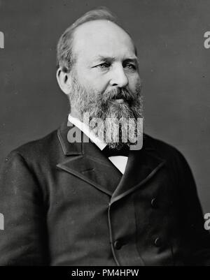 James Abram Garfield, circa 1880  File Reference # 1003_388THA - Stock Photo