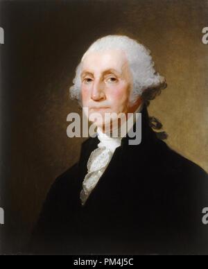 Posthumous painting of George Washington by Gilbert Stuart circa 1821   File Reference # 1003_533THA - Stock Photo