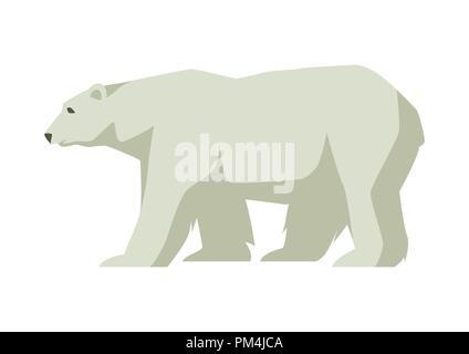 Polar white bear. Illustration of a northern animal - Stock Photo