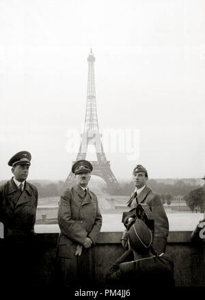 Adolf Hitler in Paris, France, June 1940.  File Reference # 1005_001THA - Stock Photo