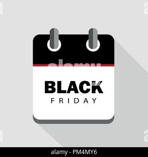 Black Friday sale calendar advertising vector illustration - Stock Photo
