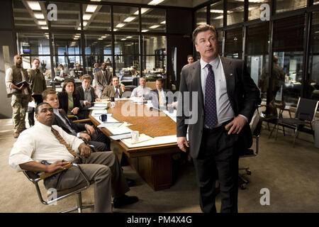 Studio Publicity Still from 'The Departed' Alec Baldwin, Matt Damon © 2006 Warner Photo credit: Andrew Cooper   File Reference # 307372345THA  For Editorial Use Only -  All Rights Reserved - Stock Photo