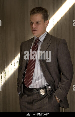 Studio Publicity Still from 'The Departed' Matt Damon © 2006 Warner Photo credit: Andrew Cooper   File Reference # 307372371THA  For Editorial Use Only -  All Rights Reserved - Stock Photo