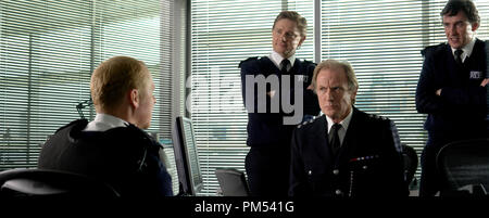 Hot Fuzz  Simon Pegg, Martin Freeman, Bill Nighy, Steve Coogan  © 2007 Rogue Pictures - Stock Photo