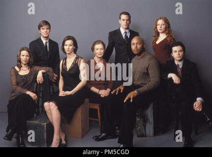 Film Still / Publicity Still from 'Six Feet Under' Lili Taylor, Peter Krause, Rachel Griffiths, Frances Conroy, Michael C. Hall, Mathew St. Patrick, Lauren Ambrose, Freddy Rodriguez © 2003 HBO Photo Credit: Art Streiber  File Reference # 30753056THA  For Editorial Use Only -  All Rights Reserved - Stock Photo