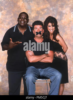 Film Still / Publicity Still from 'American Idol' Randy Jackson, Simon Cowell, Paula Abdul 2003 Photo Credit: Joe Viles  File Reference # 30753093THA  For Editorial Use Only -  All Rights Reserved - Stock Photo