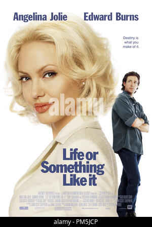 Film Still / Publicity Still from 'Life or Something Like It' Poster Angelina Jolie, Edward Burns © 2002 20th Century Fox - Stock Photo