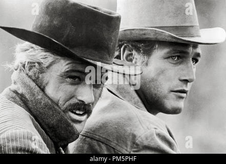 Robert Redford and Paul Newman, 'Butch Cassidy and the Sundance Kid'  1969 20th Century Fox File Reference # 30928 811THA - Stock Photo