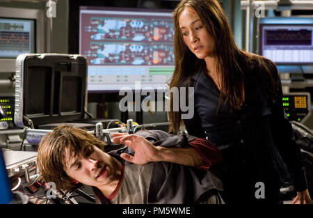 Studio Publicity Still from 'Live Free or Die Hard' Maggie Q, Justin Long © 2007 20th Century Fox Photo credit: Frank Masi    File Reference # 307381099THA  For Editorial Use Only -  All Rights Reserved - Stock Photo
