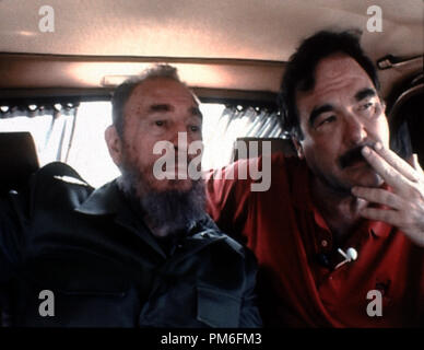 Film Still / Publicity Still from 'Commandante' Oliver Stone and Fidel Castro © 2003 HBO  File Reference # 30753852THA  For Editorial Use Only -  All Rights Reserved - Stock Photo