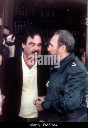 Film Still / Publicity Still from 'Commandante' Oliver Stone and Fidel Castro © 2003 HBO  File Reference # 30753853THA  For Editorial Use Only -  All Rights Reserved - Stock Photo