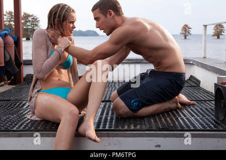 Sara Paxton and Dustin Milligan star in Relativity Media's  film release of SHARK NIGHT 3D. - Stock Photo