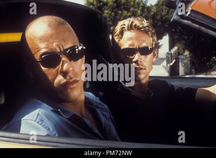 Film Still / Publicity Still from 'Fast and The Furious' Vin Diesel & Paul Walker © 2001 Universal  File Reference # 308471121THA  For Editorial Use Only -  All Rights Reserved - Stock Photo