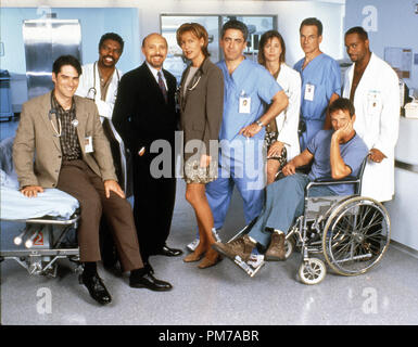Film Still from 'Chicago Hope' Thomas Gibson, Vondie Curtis-Hall, Hector Elizondo, Christine Lahti, Adam Arkin, Jayne Brook, Mark Harmon, Peter Berg, Rocky Carroll 1996    File Reference # 31042633THA  For Editorial Use Only - All Rights Reserved - Stock Photo