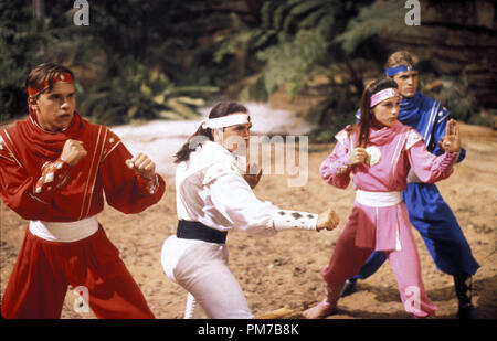 Film Still from 'Mighty Morphin Power Rangers: The Movie' Steve Cardenas, Jason David Frank, Amy Jo Johnson, David Yost © 1995 20th Century Fox Photo Credit: Marc Vignes  File Reference # 31043211THA  For Editorial Use Only - All Rights Reserved - Stock Photo