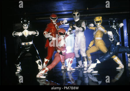 Film Still from 'Mighty Morphin Power Rangers: The Movie' Johnny Yong Bosch, Steve Cardenas, Amy Jo Johnson, Jason David Frank, Karan Ashley, David Yost © 1995 20th Century Fox Photo Credit: Marc Vignes  File Reference # 31043214THA  For Editorial Use Only - All Rights Reserved - Stock Photo