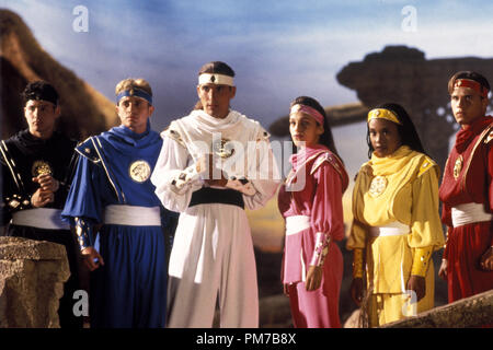 Film Still from 'Mighty Morphin Power Rangers: The Movie' Johnny Yong Bosch, David Yost, Jason David Frank, Amy Jo Johnson, Karan Ashley, Steve Cardenas © 1995 20th Century Fox Photo Credit: Jim Townley  File Reference # 31043215THA  For Editorial Use Only - All Rights Reserved - Stock Photo
