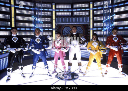 Film Still from 'Mighty Morphin Power Rangers: The Movie' Johnny Yong Bosch, David Yost, Amy Jo Johnson, Jason David Frank, Karan Ashley, Steve Cardenas © 1995 20th Century Fox Photo Credit: Jim Townley  File Reference # 31043216THA  For Editorial Use Only - All Rights Reserved - Stock Photo
