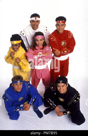 Film Still from 'Mighty Morphin Power Rangers: The Movie' David Yost, Karan Ashley, Jason David Frank, Amy Jo Johnson, Steve Cardenas, Johnny Yong Bosch © 1995 20th Century Fox   File Reference # 31043217THA  For Editorial Use Only - All Rights Reserved - Stock Photo