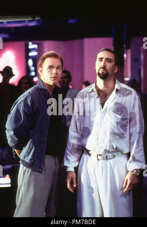 Film Still from 'Kiss of Death' David Caruso, Nicolas Cage © 1995 20th Century Fox Photo Credit: James Bridges  File Reference # 31043270THA  For Editorial Use Only - All Rights Reserved - Stock Photo