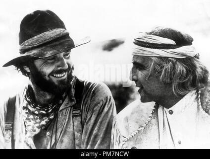 Jack Nicholson and Marlon Brando, 'The Missouri Breaks' 1976. File Reference # 31202 858THA - Stock Photo