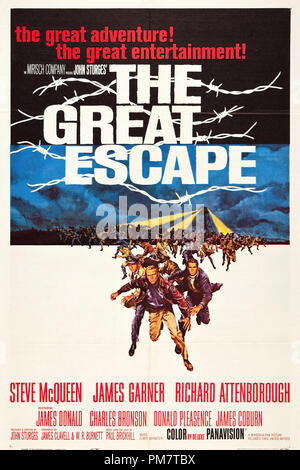 Steve McQueen 'The Great Escape' 1963 UA Poster   File Reference # 31386_635THA - Stock Photo