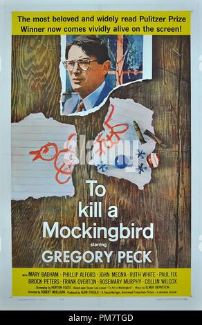 'To Kill a Mockingbird' 1962 Universal  Poster   File Reference # 31386_688THA - Stock Photo
