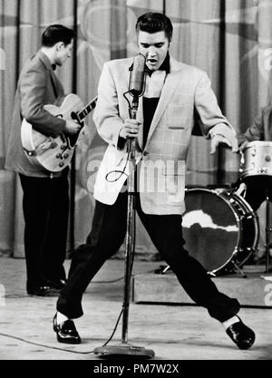 Elvis Presley performing in 1956   File Reference # 31386 872THA - Stock Photo