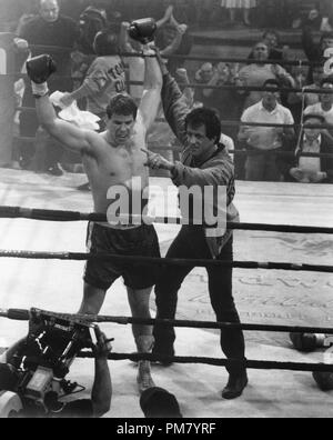 Film still or Publicity still from 'Rocky V' Tommy Morrison, Sylvester Stallone © 1990 MGM  All Rights Reserved   File Reference # 31571093THA  For Editorial Use Only - Stock Photo