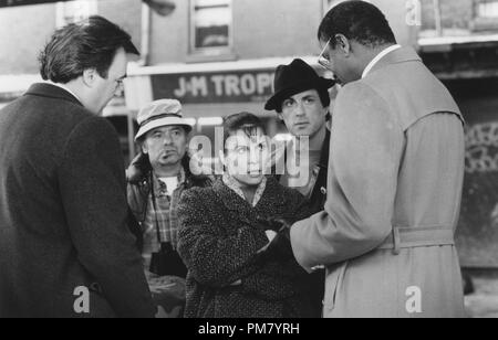 Film still or Publicity still from 'Rocky V' Mike Girard Sheehan, Burt Young, Talia Shire, Sylvester Stallone, Richard Gant © 1990 MGM  All Rights Reserved   File Reference # 31571095THA  For Editorial Use Only - Stock Photo