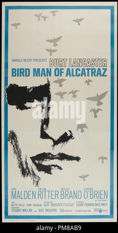Studio Publicity: 'Birdman of Alcatraz' 1962 UA  Poster  Burt Lancaster  File Reference # 31780_634 - Stock Photo