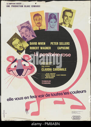 Studio Publicity: 'The Pink Panther' 1963 MGM  French Poster  Peter Sellers, David Niven  File Reference # 31780_644 - Stock Photo
