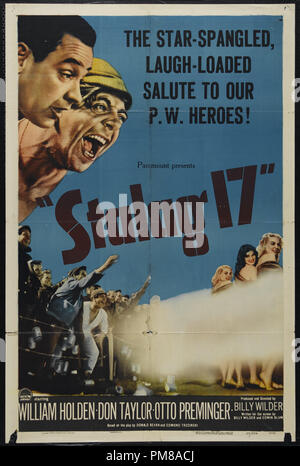 Studio Publicity: 'Stalag 17', 1953 Paramount Pictures Poster  William Holden, Don Taylor, Otto Preminger  File Reference # 31780_668 - Stock Photo