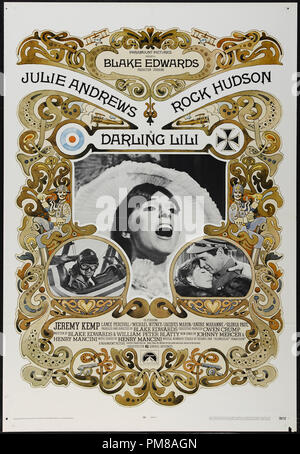 Studio Publicity: 'Darling Lili' 1970 Paramount Poster  Julie Andrews, Rock Hudson   File Reference # 31780 752 - Stock Photo