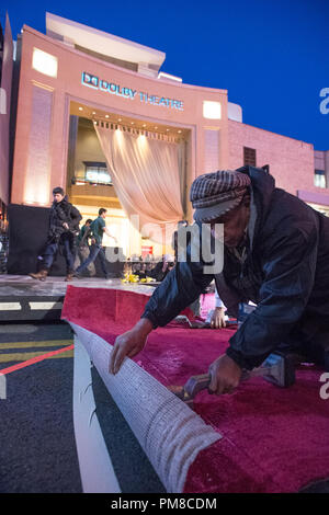 Preparations continue Wednesday, February 20, for the The Oscars which will be presented on Sunday, February 24, 2013, at the Dolby® Theatre and televised live by the ABC Television Network. - Stock Photo