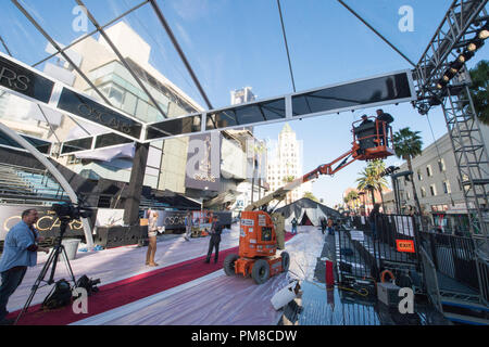 Preparations continue Thursday, February 21, for the The Oscars® which will be presented on Sunday, February 24, 2013, at the Dolby® Theatre and televised live by the ABC Television Network. - Stock Photo