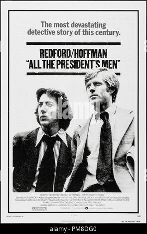 Dustin Hoffman and Robert Redford, 'All the President's Men' 1976 Warner Poster    File Reference # 31955 566THA - Stock Photo