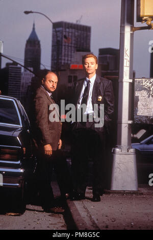 Film still / publicity still from 'NYPD Blue' David Caruso, Dennis Franz © 1993 Steven Bocho Productions   File Reference # 31371189THA  For Editorial Use Only All Rights Reserved - Stock Photo
