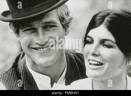(Archival Classic Cinema - Paul Newman Retrospective) 'Butch Cassidy and The Sundance Kid,' Paul Newman and Katharine Ross. 1969 20th Century Fox File Reference # 31510 029THA - Stock Photo
