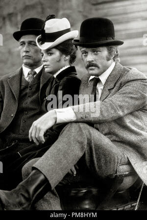 (Archival Classic Cinema - Paul Newman Retrospective)  'Butch Cassidy and The Sundance Kid,' Paul Newman, Katharine Ross  and Robert Redford. 1969 20th Century Fox  File Reference # 31510 061THA - Stock Photo