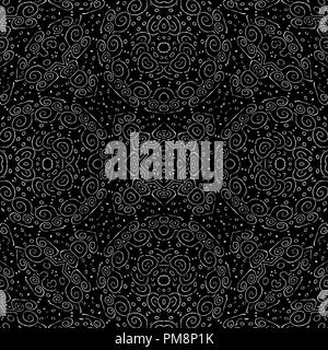 Digital collage technique ornate seamless pattern design in - Stock Photo
