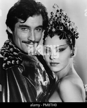 Studio Publicity Still from 'Flash Gordon' Timothy Dalton, Ornella Muti © 1980 Universal All Rights Reserved   File Reference # 31715229THA  For Editorial Use Only - Stock Photo