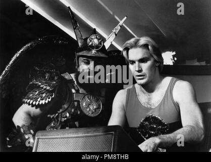 Studio Publicity Still from 'Flash Gordon' Brian Blessed, Sam J. Jones © 1980 Universal All Rights Reserved   File Reference # 31715233THA  For Editorial Use Only - Stock Photo