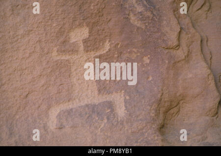 Petroglyphs at Chaco Canyon, Anasazi site in New Mexico. Photograph - Stock Photo