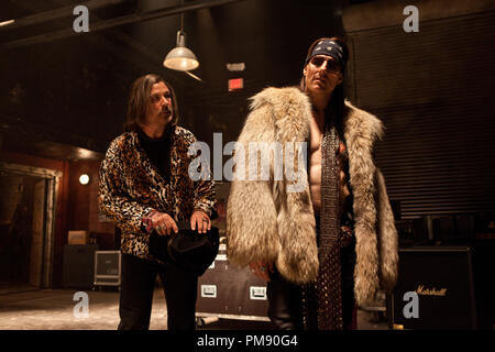 (L-r) ALEC BALDWIN as Dennis Dupree and TOM CRUISE as Stacee Jaxx in New Line Cinema's rock musical 'ROCK OF AGES,' a Warner Bros. Pictures release. - Stock Photo