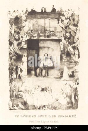 Le dernier jour d'un condamne. Dated: 1833. Medium: etching. Museum: National Gallery of Art, Washington DC. Author: Célestin Nanteuil. - Stock Photo