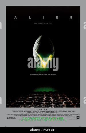 Poster from 'Alien: The Director's Cut' 1979  File Reference # 31537 360THA - Stock Photo