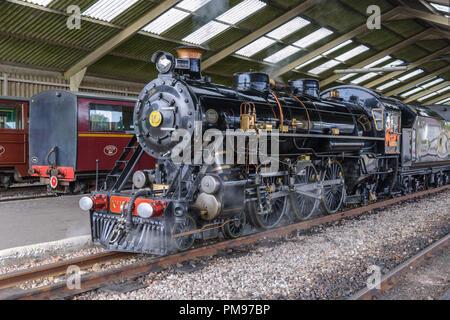 Romney, Hythe & Dymchurch Railway, New Romney, Kent, UK - Stock Photo