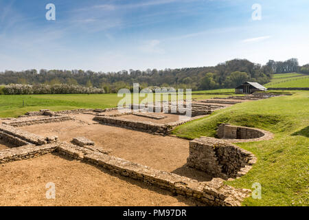North Leigh Roman Villa, Oxfordshire, UK - Stock Photo